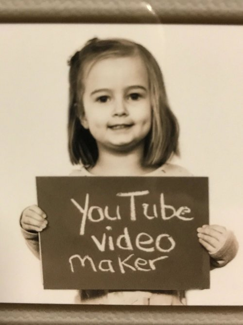 My Niece as a YouTube Video Maker