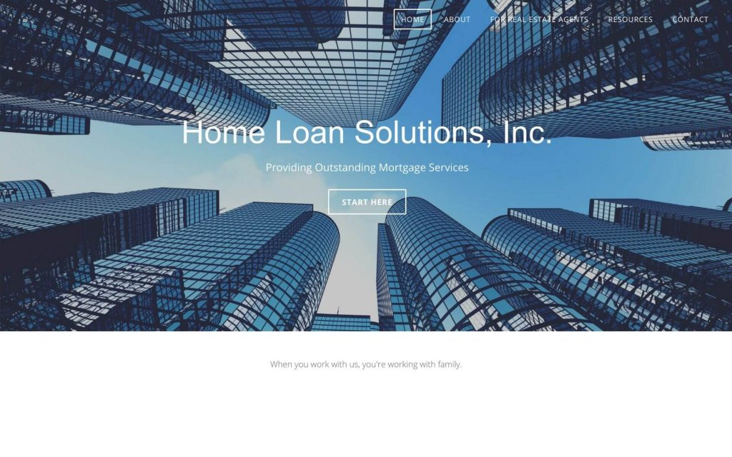 Old Home Loan Solutions Website