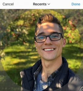 Using a square image for Instagram profile picture