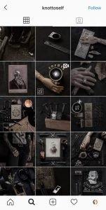 knottoself Instagram grid