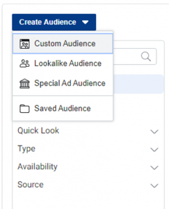 Creating your lookalike audience on Facebook