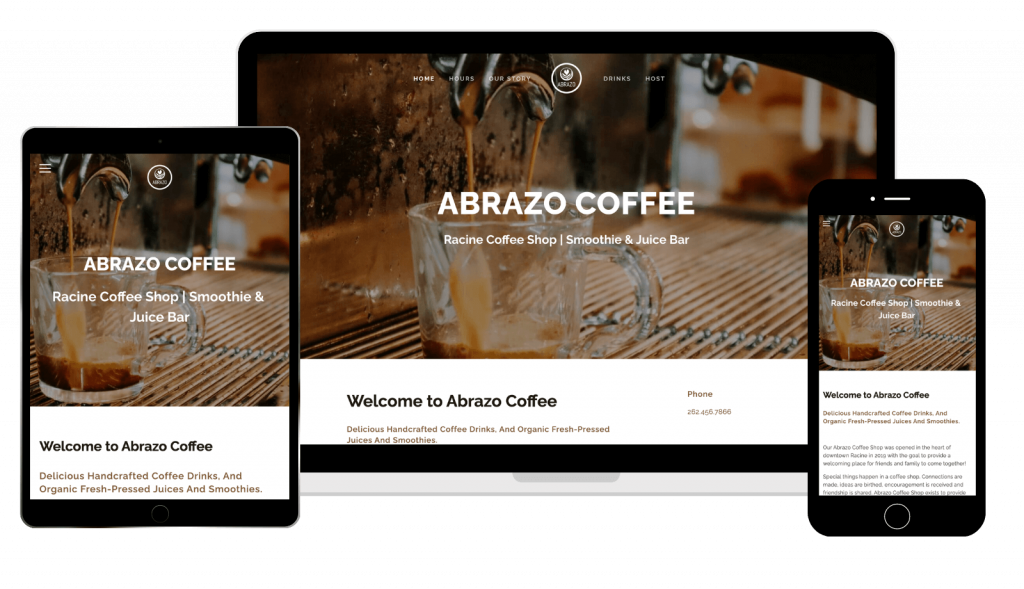 Abrazo Coffee Shop Responsive Website