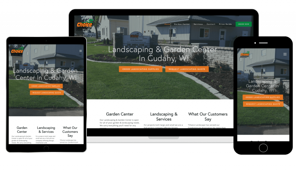 Choice Landscaping Website Case Study