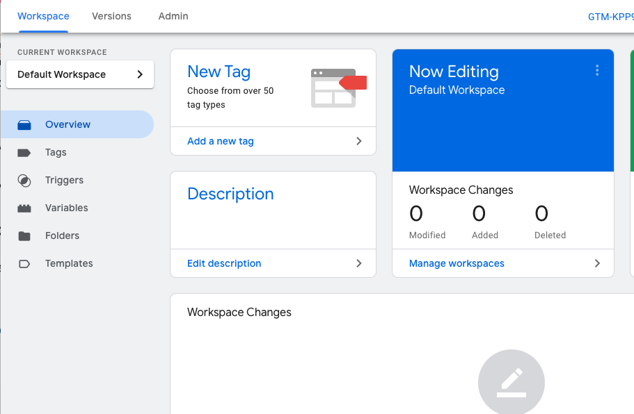Add a new tag to Tags Manager